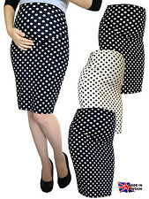 PREGNANCY DOT PENCIL SKIRT OVER BUMP 100% UK MADE