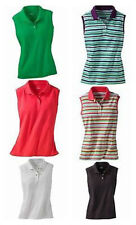 Cabelas Women's Spring Creek Sleeveless Magnum Pique Polo Solid or Stripe NEW
