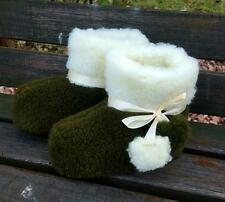 MEN NEW Sheep Wool Home 100% Shoes Warm House Indoor Outdoor Slippers Lot 143