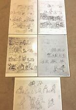 Original Tintin Comic Sketch Posters A4 - Alph Art +More BUY INDIVIDUALLY Herge