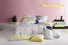 NEW Morse quilt cover set by Kas Room - pink geometric cotton bedding bed linen