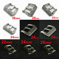 316L SS PRE-V Screw-in Buckle Clasp for Panerai Leather Watch Strap Band 24mm