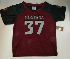 MONTANA GRIZZLIES NCAA YOUTH  FOOTBALL JERSEY NWT