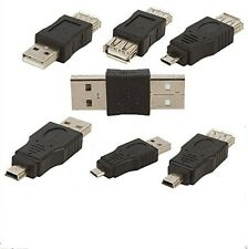 USB 2.0 Type A Male to Male/Female, Micro M to M/Female,Mini M to M/F Adapters
