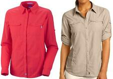 Columbia Women's Insect Blocker Long Sleeve Shirt, L/XL Red/Orange - $80 NWT!