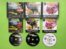 Actua Golf 1 2 & 3 PS1 Playstation PAL Games Bundle + Works On PS2 & PS3