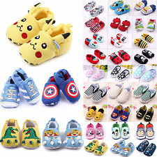 Toddler Infant Boy Girls Slipper Loafers Baby Prewalkers Crib Shoes Sneakers