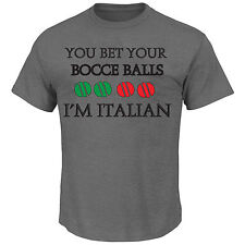 You Bet Your Bocce Balls I'm Italian Funny Men  T Shirt