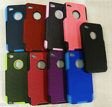 New Heavy Duty Durable Armour Hard Plastic Case Protection For Iphone 4G/4GS