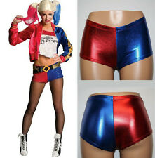 Cosplay Harley Quinn Shorts Suicide Squad Harlequin Shiny Hot Pants Fancy Dress