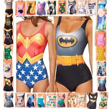 Women Cartoon Costume Bathing Swimsuit Monokini Swimwear Swimming Bikini Beach