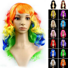 Halloween Fancy Waves Lady Long Curly Full Hair Wigs Cosplay Costume Party Wig ❀