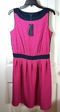 NWT WOMEN'S TOMMY HILFIGER PINK/BLUE FLOWER SLEEVELESS SUMMER DRESS SIZE 10