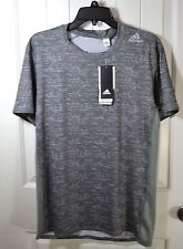 NWT MEN'S ADIDAS GRAY FITTED TECHFIT BASE SHORT SLEEVE CREW NECK T SHIRT SIZE M
