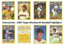 1987 Topps Woolworth Baseball Highlights Baseball Set ** Pick Your Team **