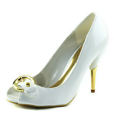 Women's and Accent Soft Patent Leather Peep Toe High Heel Pump
