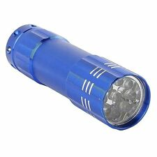 Portable Flashlight 9 LED Mini Pocket Torch for Outdoor Camping Super Bright