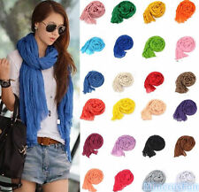 Womens Chic Long soft Silk Chiffon Scarf Wrap Shawl Pashmina Scarves