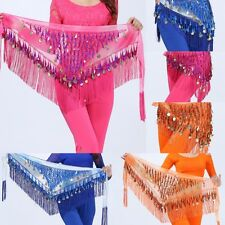 Dancing Coin Chain Belly Dance Golden Sequin Hip Skirt Scarf Wrap Belt Waistband