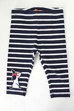 Gymboree Girls Striped Puppy Patch Leggings Navy Blue 6-12 3T 5T NWT $16.95