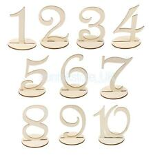 Wooden Round free Standing Wood Table Numbers Table Decor
