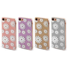 Shiny Bling Flower Pattern Back Protective Phone Hard Case Cover for iPhone 7