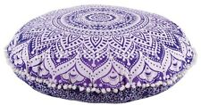 """Large Cushion Cover 32"""" Ethnic Floor Pillow Indian Mandala Cushions With Insert."""