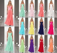 2017 Long Evening Formal Party Ball Gown Prom Wedding Bridesmaid Dress Size 6-20