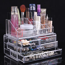 Acrylic Makeup Case Jewelry Storage Cabinet Box Cosmetic Organizer Drawers Clear