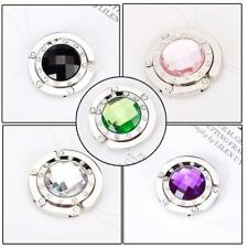 Various Crystal Round Folding Travel Handbag Bag Purse Hanger Holder Table Hook