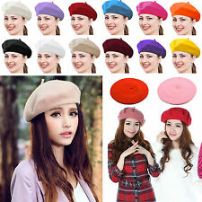 New Fashion Unisex Men Women Wool Warm Beret Beanie Hat Cap French Style Ski Cap