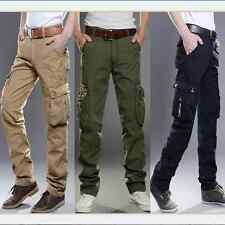Vintage Hot Mens Casual Military Army Cargo Camo Combat Work Pants Trousers Pant