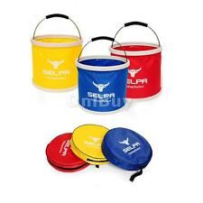 11L Fishing Bucket Outdoor Foldable Water Container Pail Car Storage with Bag