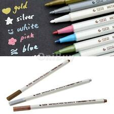 Multicolor Metallic Ink Marker Pen Sign Pen DIY Photo Album Dauber Brush Pen