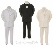 Boys Tuxedo Formal Suit Christening Baptism Communion Ring Bearer Wedding Kids