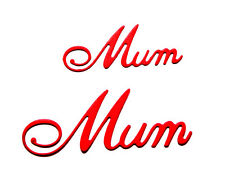 """10 """"Mum"""" Word Die Cuts, 5 of each. Mother's Day. Cheery Lynn. Any Colour/Card!"""