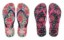 Havaianas Slim Floral Women 2017 White, Blue, Black Flip Flops Sandals All Sizes