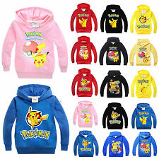 Pokemon Go Kids Hoodies Pikachu Sweatshirt Fleece Winter Jacket Pullover Clothes