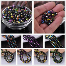 8mm 30/100pcs Faceted Marble Vein Colorized Rondelle Glass Spacer Loose Beads