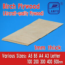 Aircraft Grade Birch Plywood Sheet 1mm thick for Model, Craft, Pyrography