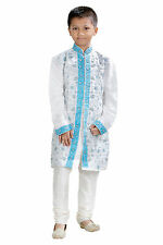 New Boys Indian Kurta Sherwani Suit (2 Pcs) 1 To 12 Years-Worldwide Postage