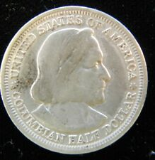 1893 columbian exposition silver 50 cent united states commemorative (N