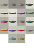 10mm x 10 metre Full Roll Grosgrain Ribbon with White Saddle Stitch