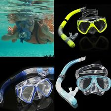 Adult Dive Mask Scuba Gear Diving Equipment Snorkeling Dry Snorkel Set WN
