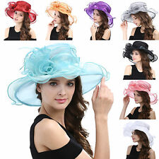 Women's Kentucky Derby Hat Church Hat Wedding Organza Dress Hat Tea Party Hat #4