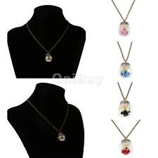 Charming Dried Flower Glass Ball Bottle Handmade Retro Pendant Clavicle Necklace