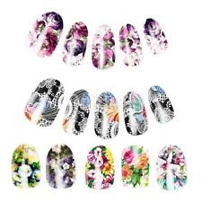 10pcs DIY Nail Water Transfer Decals Nails Art Stickers Wraps -Beautiful Flowers