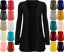 LADIES LONG SLEEVE BOYFRIEND CARDIGAN WITH POCKETS PLUS SIZE 6 - 22 8 10 *cardgn