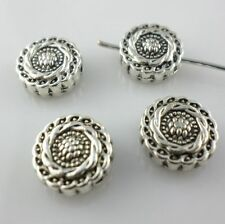 28/250pcs Tibetan Silver 4.5x10mm Charms Oblate Flower Spacer Beads