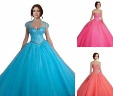 3 Color Gorgeous Beads Evening Formal Prom Party Pageant Ball Dress Bridal Gown